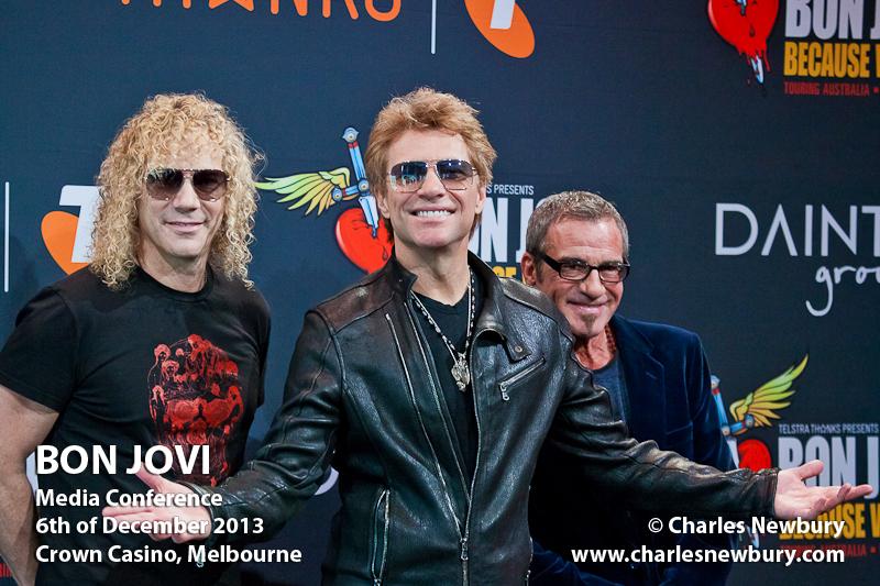 Bon Jovi (Media Conference) - Crown Casino, Melbourne | 6th of December 2013
