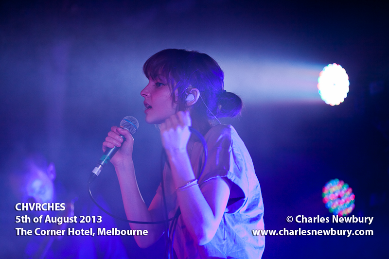 CHVRCHES - The Corner Hotel, Melbourne | 5th of August 2013