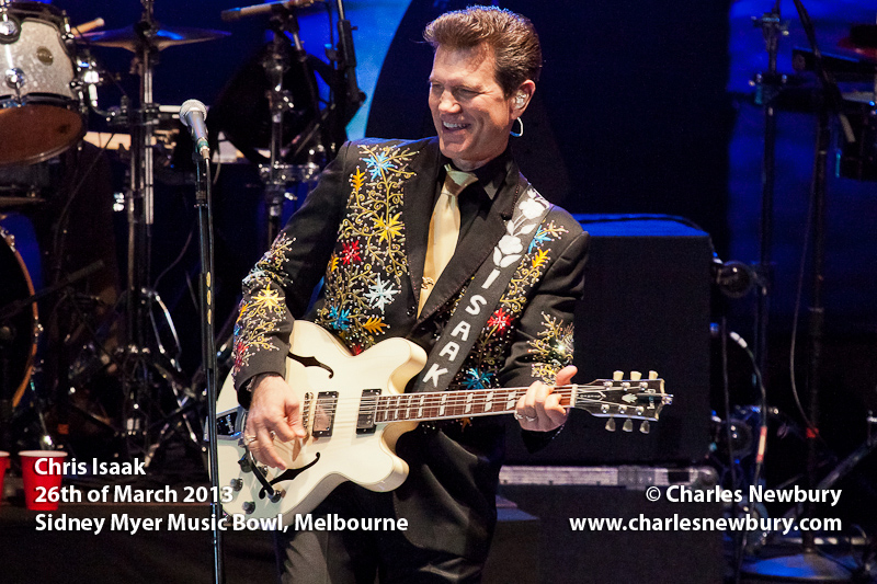 Chris Isaak - Sidney Myer Music Bowl, Melbourne | 26th of March 2013