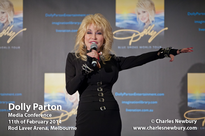 Dolly Parton (Media Conference) - Rod Laver Arena, Melbourne | 11th of February 2014