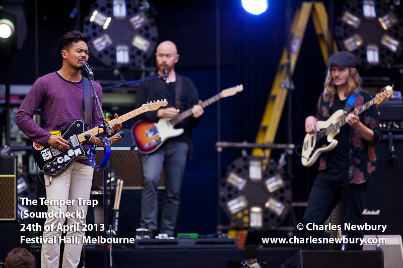 The Temper Trap - (Soundcheck) Festival Hall, Melbourne | 24th of April 2013