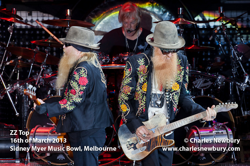 ZZ Top - Sidney Myer Music Bowl, Melbourne | 16th of March 2013