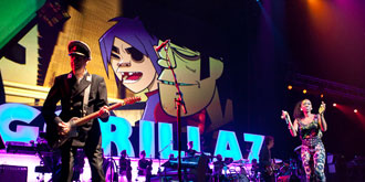 Gorillaz - Rod Laver Arena in Melbourne | 11th of December 2010