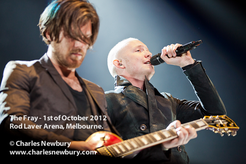 The Fray - Rod Laver Arena in Melbourne | 1st of October 2012